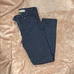 Windowpane jeans
